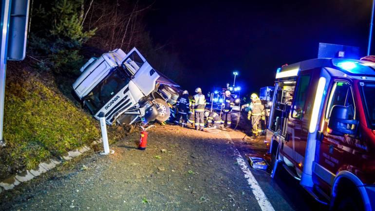Schwerer LKW-Unfall auf der A2 bei Mooskirchen!