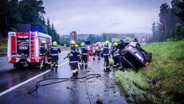 Vier Verletze bei Unfall auf A2!
