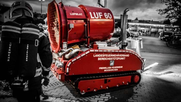 LUF-Übungseinsatz Tiefgaragenbrand