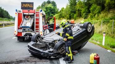 """Schwerer """"filmreifer"""" Verkehrsunfall"""