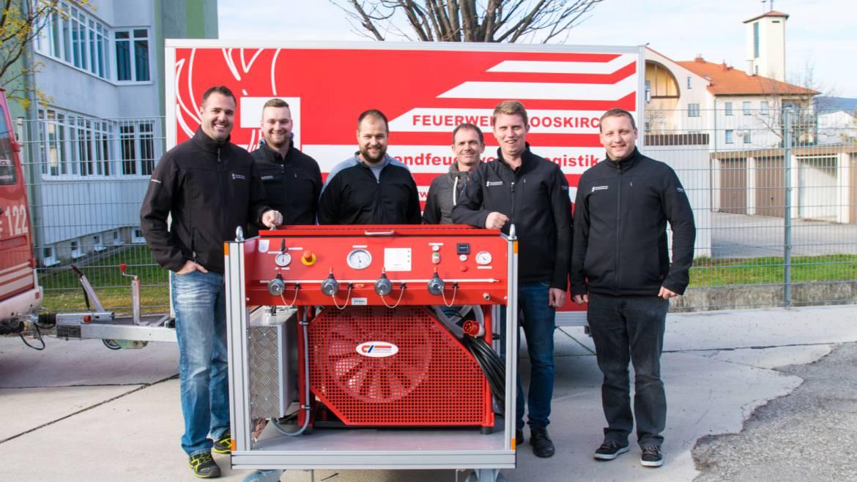 Mobiler Atemluftkompressor für die FF-Mooskirchen!