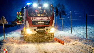 Schneefall bescherte zwei Einsätze!