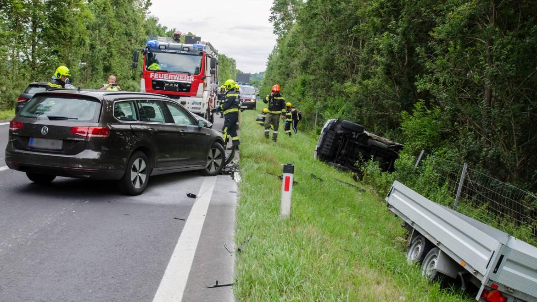 Schwerer Verkehrsunfall am A2 Zubringer Mooskirchen