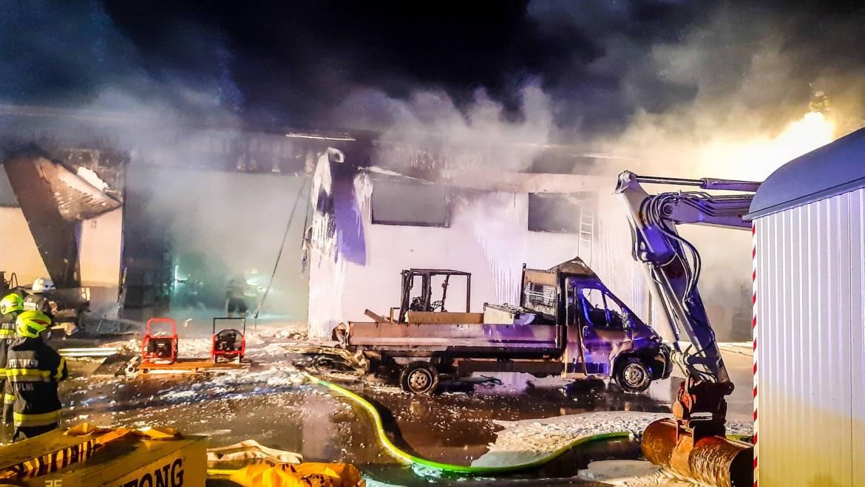 ELF-Einsatz: Großbrand in Bärnbach