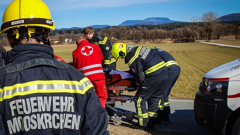 Verkehrsunfall im Mooskirchner Ortsteil Neudorf forderte zwei Verletzte!