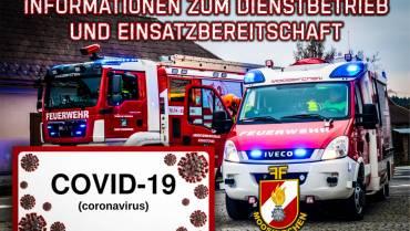 COVID-19 – Informationen zum Dienstbetrieb und Einsatzbereitschaft
