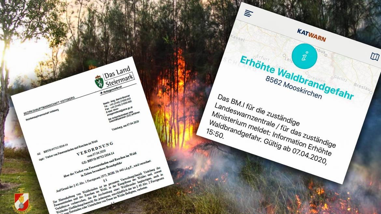Verbot von Brauchtumsfeuer & Feuerentzünden im Wald!
