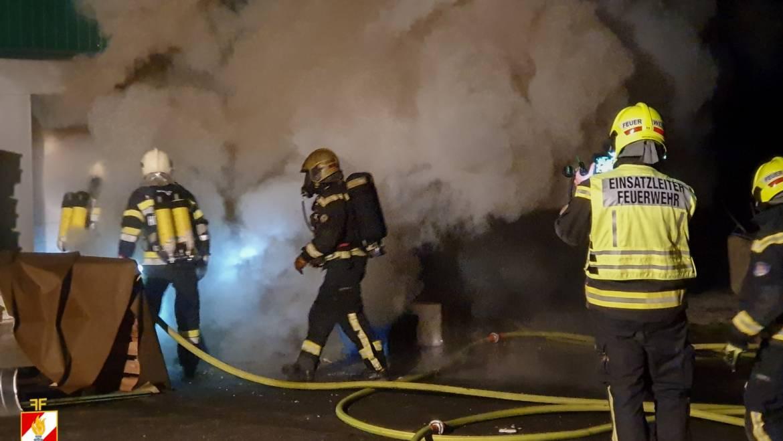 Wirtschaftsgebäudebrand in Mooskirchen