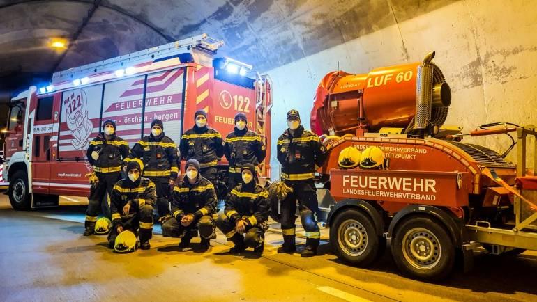 Begehung A2 Herzogbergtunnel und Test LUF60