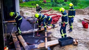 Schadstoffeinsatz auf einer Baustelle
