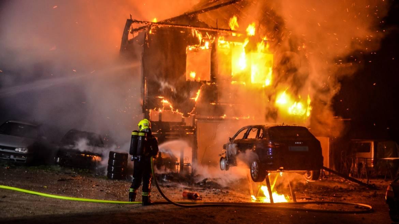 Großbrand in Edenberg