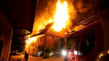 Großbrand in Hallersdorf