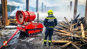 Großbrand in Wernersdorf (DL) – LUF Einsatz!